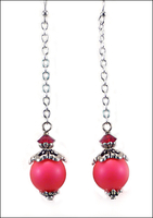 Raspberry Flambé Earrings