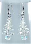 Wintry Crystal Tree Earrings