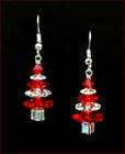Candy Cane Christmas Tree Earrings