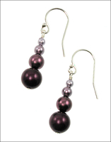 Bridal Radiant Orchid Pearl Earrings