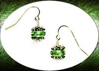 Crystal Ball Green Swarovski Earrings