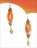 Orange Swirl Sunshine Earrings