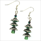 Snowy Branches Christmas Tree Earrings