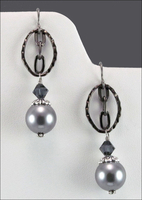 Shades of Grey Earrings