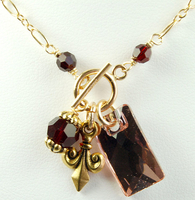 Imperial Gold and Garnet Necklace