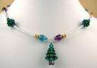 Swarovski Christmas Tree and Light Necklace
