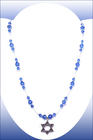 Image Hanukkah Sapphire Illusion Necklace