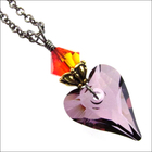 Milagro Wild Fire Sacred Heart Swarovski Necklace