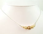 Bridal Sunflower Pearl Necklace