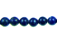 Lapis 4mm round royal or navy blue