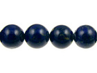 Lapis 6mm round royal blue