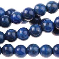 Image Large hole Lapis 8mm round dark blue