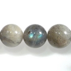Labradorite 10mm round light grey with blue