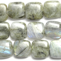 Labradorite 12mm square grey