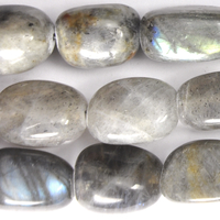 Labradorite 12 x 16mm nugget grey