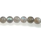 Labradorite 4mm round light grey with blue