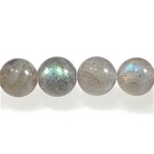 Labradorite 6mm round light grey with blue