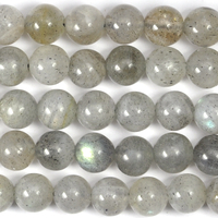Labradorite 6mm round grey