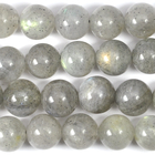 Labradorite 8mm round grey