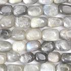 Labradorite 8 x 10mm nugget grey