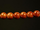 4mm round caramel Miracle Beads