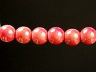 4mm round melon Miracle Beads
