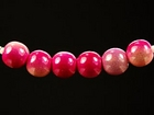 4mm round two tone pink Miracle Beads