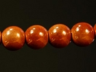 6mm round caramel Miracle Beads