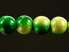 6mm round two tone green Miracle Beads