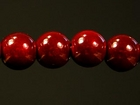 6mm round red Miracle Beads