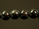 6mm round slate grey Miracle Beads