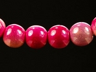 6mm round two tone pink Miracle Beads