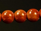 8mm round caramel Miracle Beads