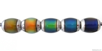 Mirage beads semi-round 9 x 6mm color changing