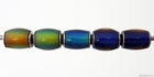Mirage beads barrel 6 x 10mm color changing