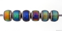 Mirage beads rondell 7 x 8mm color changing