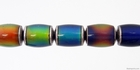Mirage beads barrel 8 x 12mm color changing