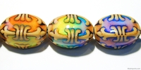 Mirage beads Fleur de lis 23 x 15mm color changing