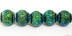 Mirage beads Blue mystique 11 x 12.5mm color changing
