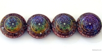 Mirage beads Sun blossom 16 x 7mm color changing