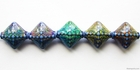 Mirage beads Sapphire 15.2mm color changing mood beads