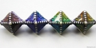 Mirage beads Northern lights 14 x 19mm color changing