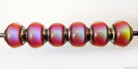 Mirage beads semi-round 6 x 9mm color changing
