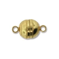 Image base metal 8 x 14mm ball shape magnetic clasp gold finish