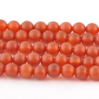 Carnelian Agate 12mm round deep orange