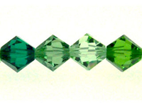 Swarovski Bead Mixes bicone 6mm Simply green