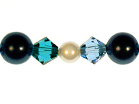 Swarovski Bead Mixes bicone & round 4, 5 and 6mm Blue lagoon pearl