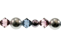 Swarovski Bead Mixes bicone & round 4, 5 and 6mm Cityscape pearl
