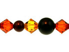 Swarovski Bead Mixes bicone & round 4, 5 and 6mm Fall harvest