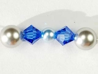 Swarovski Bead Mixes bicone & round 4, 5 and 6mm Hanukkah colors